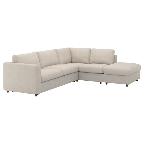 VIMLE corner sofa-bed, 4-seat with open end/Gunnared beige 53 cm 83 cm 68 cm 98 cm 241 cm 235 cm 268 cm 55 cm 48 cm 140 cm 200 cm 12 cm