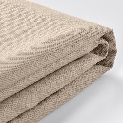 VIMLE Cover 3-seat sofa w chaise longue, with headrest/Hallarp beige