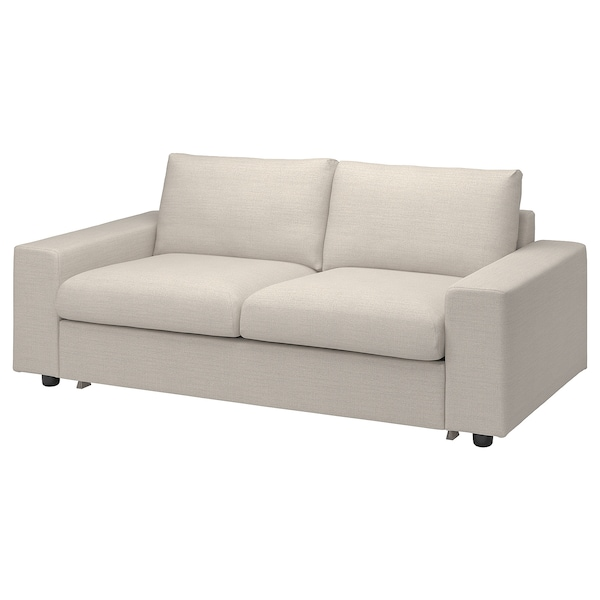 VIMLE Cover for 2-seat sofa-bed, with wide armrests/Gunnared beige