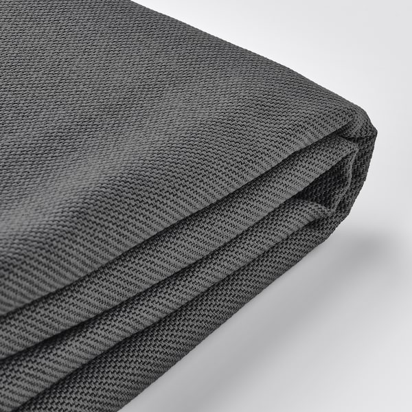 VIMLE Cover for footstool with storage, Hallarp grey