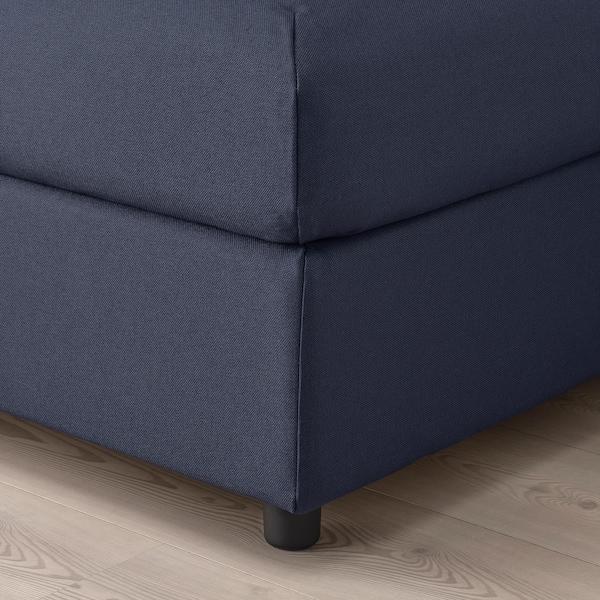 VIMLE Footstool with storage, Orrsta black-blue