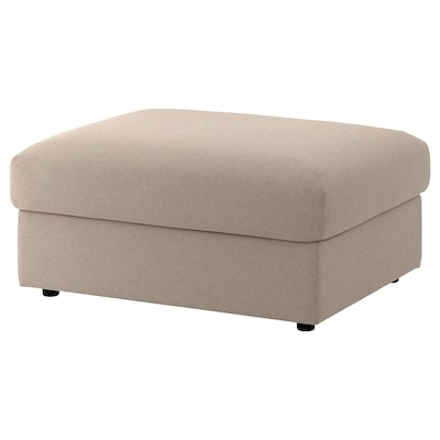 VIMLE Footstool with storage, Tallmyra beige