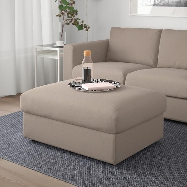VIMLE Footstool with storage, Tallmyra beige