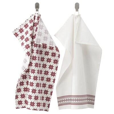 VINTER 2021 Tea towel, white/red, 50x70 cm