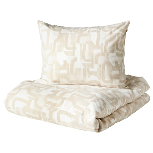 IKEA VINTERJASMIN Quilt cover and 2 pillowcases