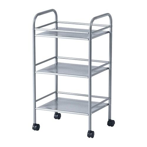 DRAGGAN Carrito, gris plata - IKEA