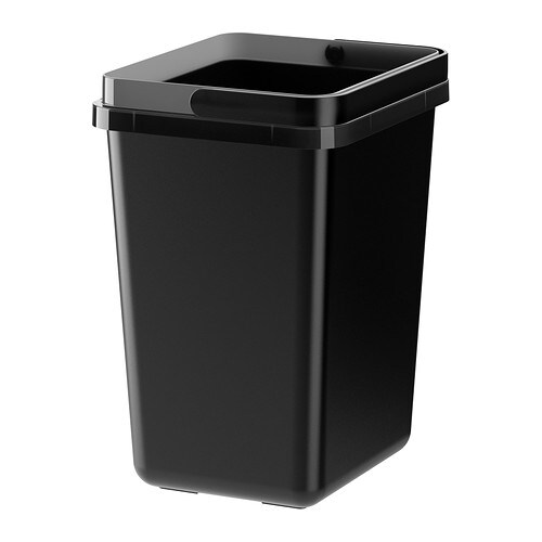 VARIERA Cubo para reciclar, negro - IKEA