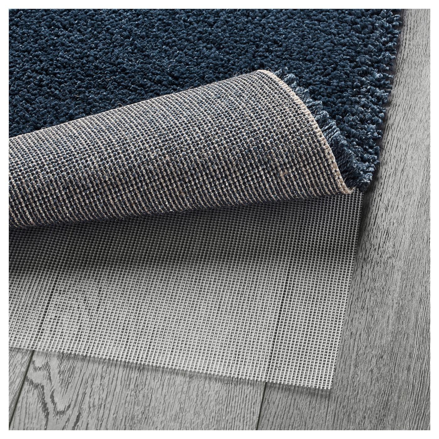 Dum alfombra pelo largo azul oscuro 133 x 195 cm ikea - Ikea textiles y alfombras ...