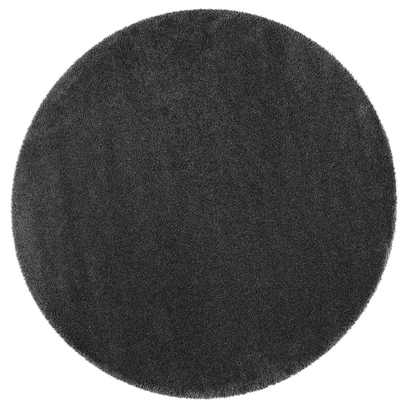 Dum Alfombra Pelo Largo Gris Oscuro 195 Cm Ikea