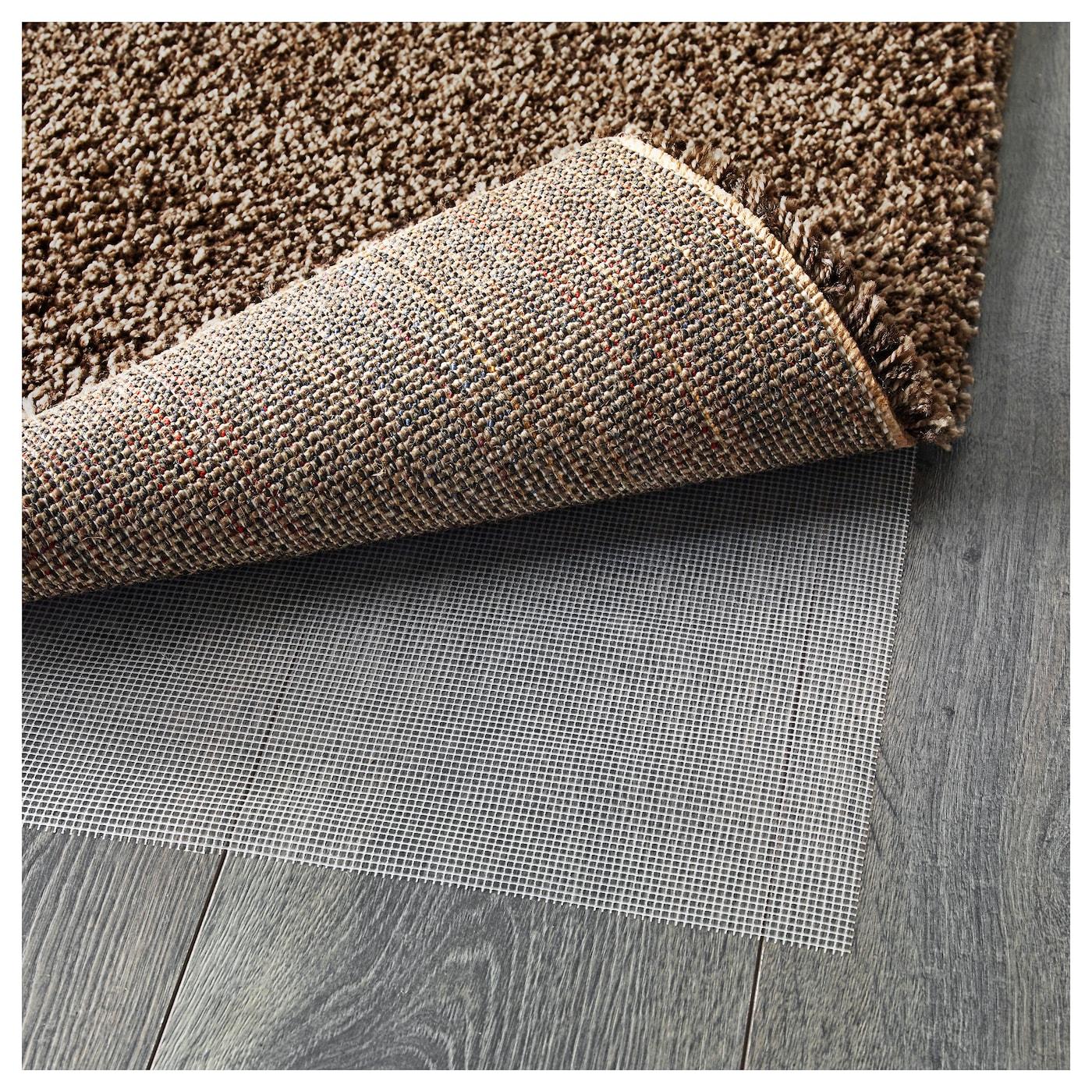 Dum alfombra pelo largo marr n claro 80 x 150 cm ikea - Alfombra redonda pelo largo ...