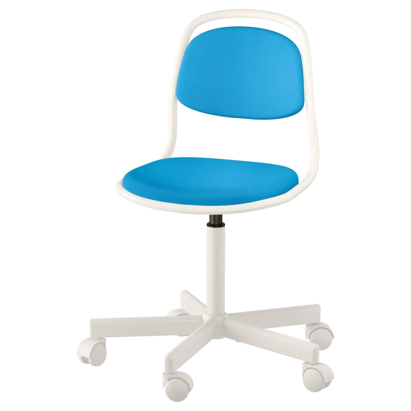 ÖRFJÄLL Silla escritorio niño Blanco/vissle azul vivo - IKEA