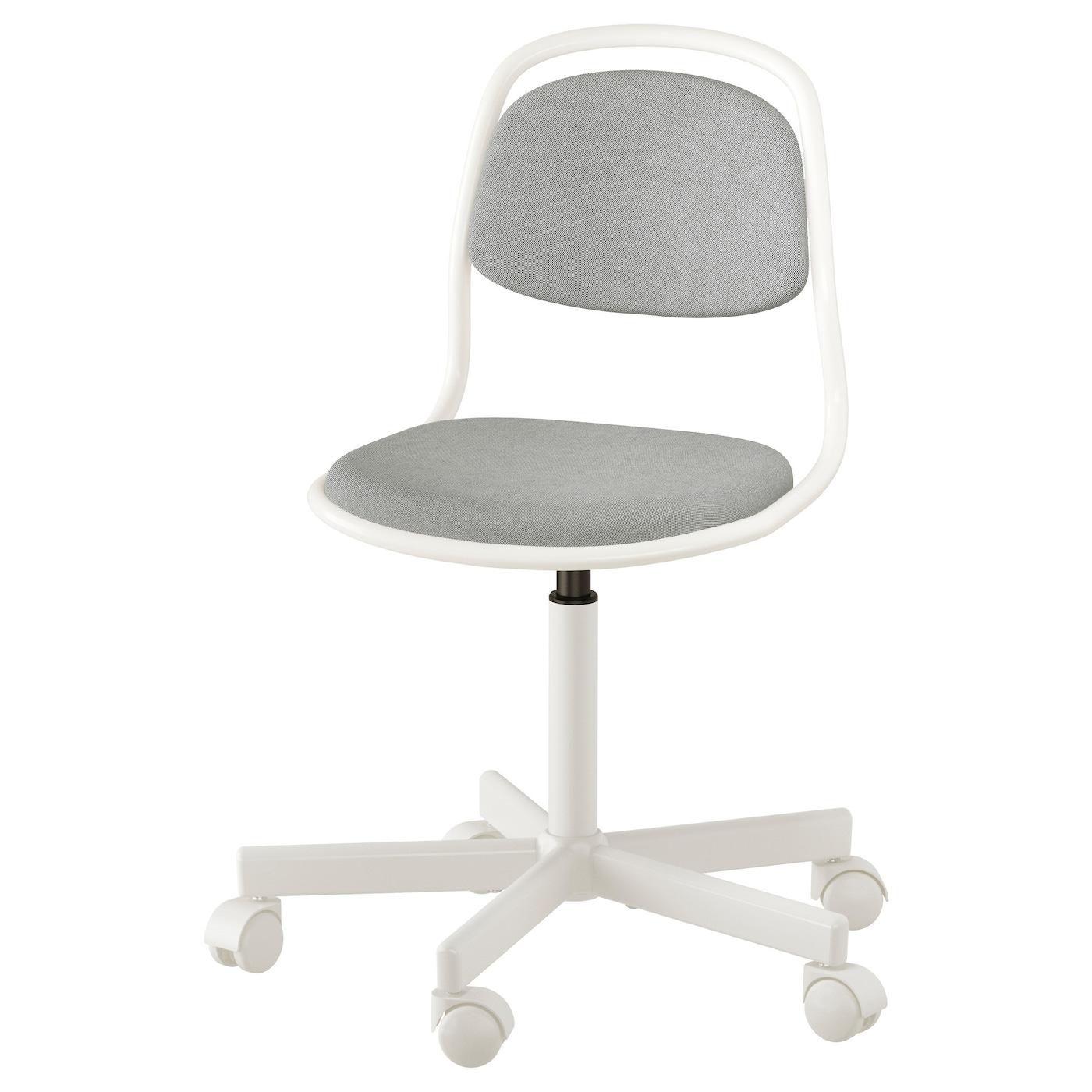 ÖRFJÄLL Silla escritorio niño Blanco/vissle gris claro - IKEA