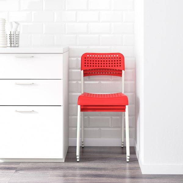 ADDE Silla, rojo/blanco