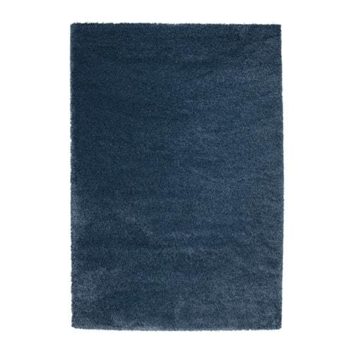 ÅDUM  - catifa, pèl llarg, 133x195, blau fosc