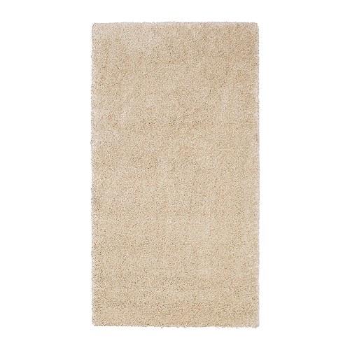 ÅDUM Alfombra, pelo largo, 80x150 cm, hueso