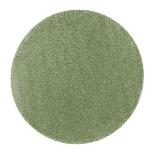 Dum alfombra pelo largo 195 cm ikea for Alfombra redonda verde