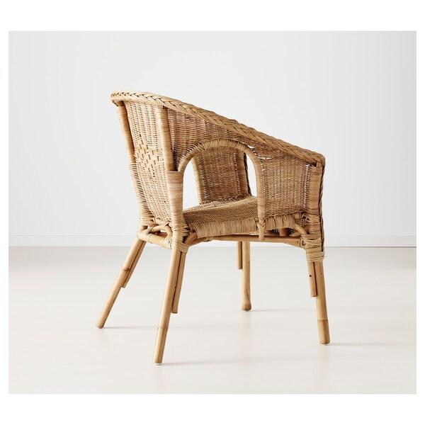 AGEN silla ratán/bambú 58 cm 56 cm 79 cm 43 cm 40 cm 44 cm