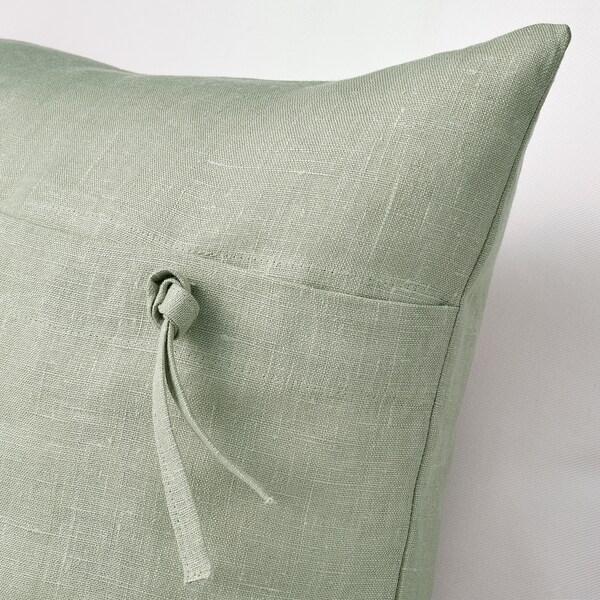 AINA Funda de cojín, verde claro, 50x50 cm