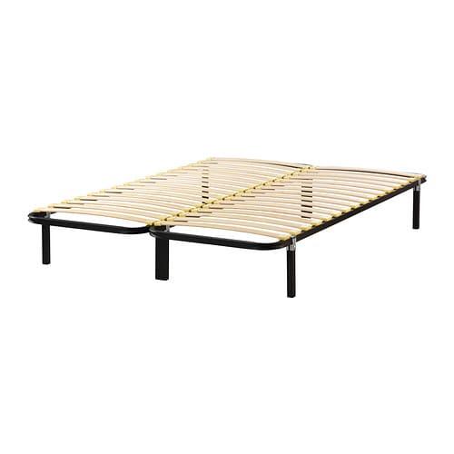 AKKARVIK Base cama+6 patas Negro 150 x 190 cm   IKEA