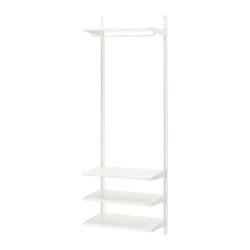 Algot riel susp baldas barra blanco 66 x 41 x 197 cm ikea - Cultivo interior ikea ...