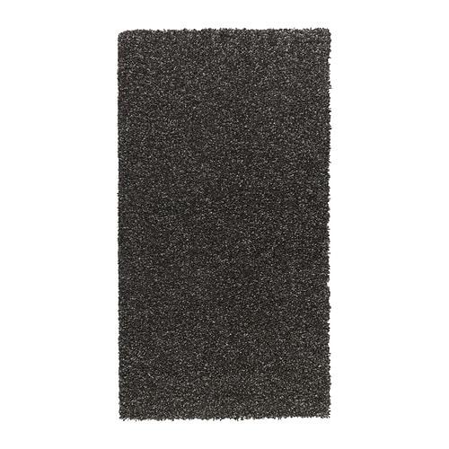 Alhede alfombra pelo largo ikea for Alfombra negra pelo largo