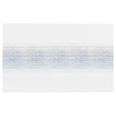 ALKEMISK Mantel, blanco/azul raya, 145x240 cm