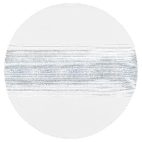 ALKEMISK mantel blanco/azul raya 150 cm