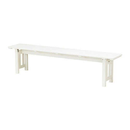 Ngs banco ext blanco ikea for Banco madera ikea