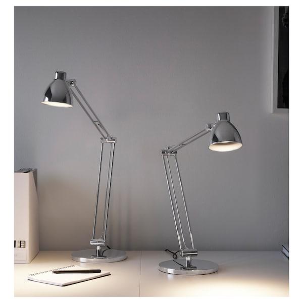 ANTIFONI Lámpara flexo de trabajo, niquelado