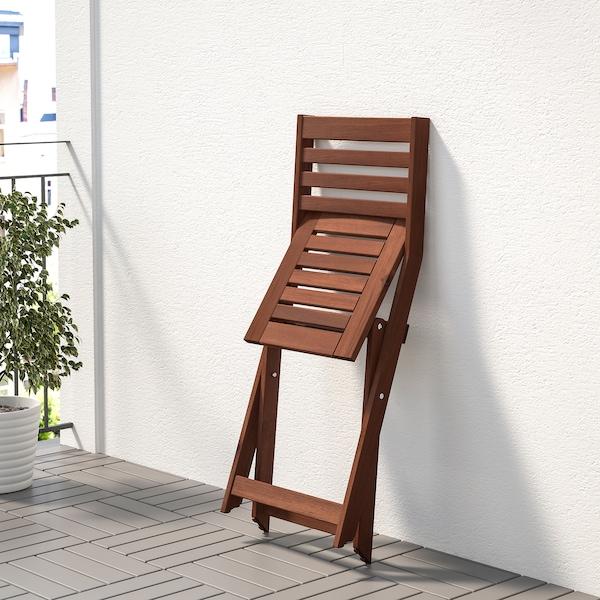 ÄPPLARÖ Silla jardín, plegable tinte marrón
