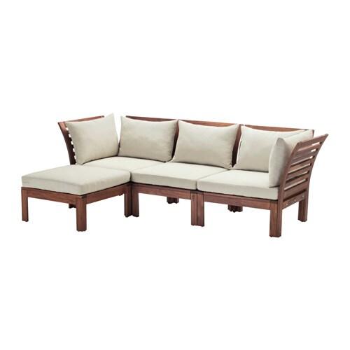 Pplar sof 3 plazas y reposapi s exterior tinte marr n for Sofa exterior 2 plazas