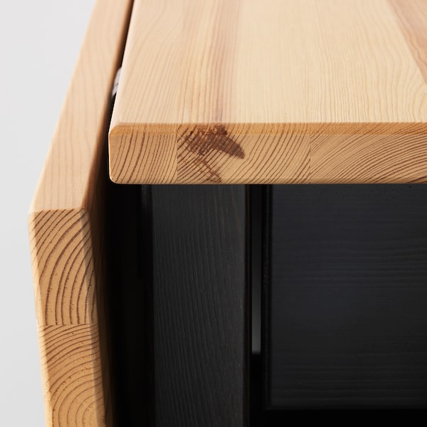 ARKELSTORP Mesa de centro, negro, 65x140x52 cm