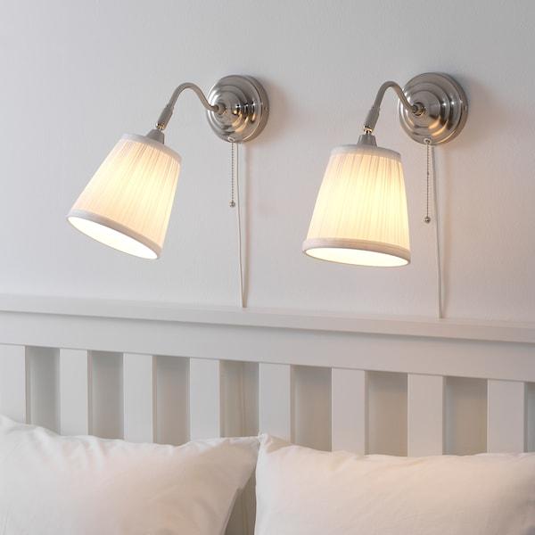 ÅRSTID Lámpara de pared, niquelado/blanco