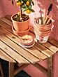 ASKHOLMEN mesa pared ext plegable tinte marrón claro 70 cm 44 cm 71 cm