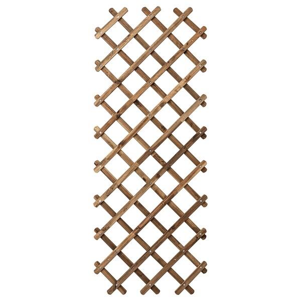 ASKHOLMEN enrejado tinte marrón claro 72 cm 3 cm 190 cm