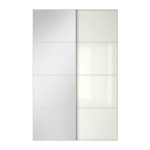 Auli f rvik puertas correderas 2 uds 150x236 cm ikea - Puertas para armarios ikea ...