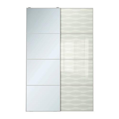Auli innfjorden puertas correderas 2 uds 150x236 cm for Sistema puertas correderas ikea