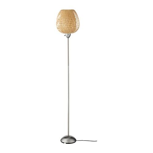 Böja Lámpara De Pie Niqueladobambú Ikea