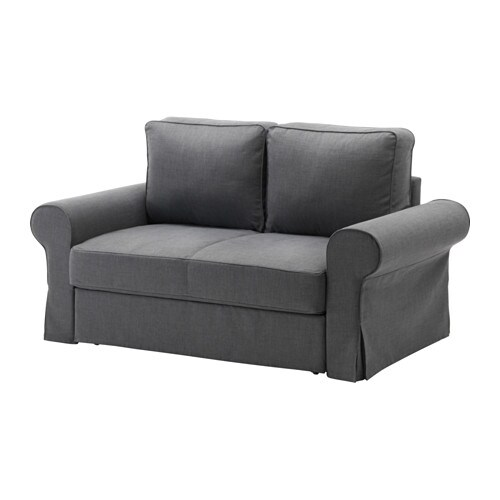 Backabro funda para sof cama 2 plazas nordvalla gris - Funda para sofa ikea ...