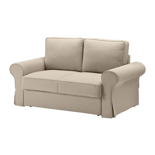 Backabro sof cama 2 plazas hylte beige ikea for Sofa cama sin colchon