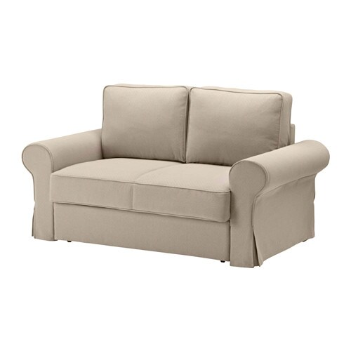 Backabro sof cama 2 plazas hylte beige ikea for Sofa cama 135 ancho