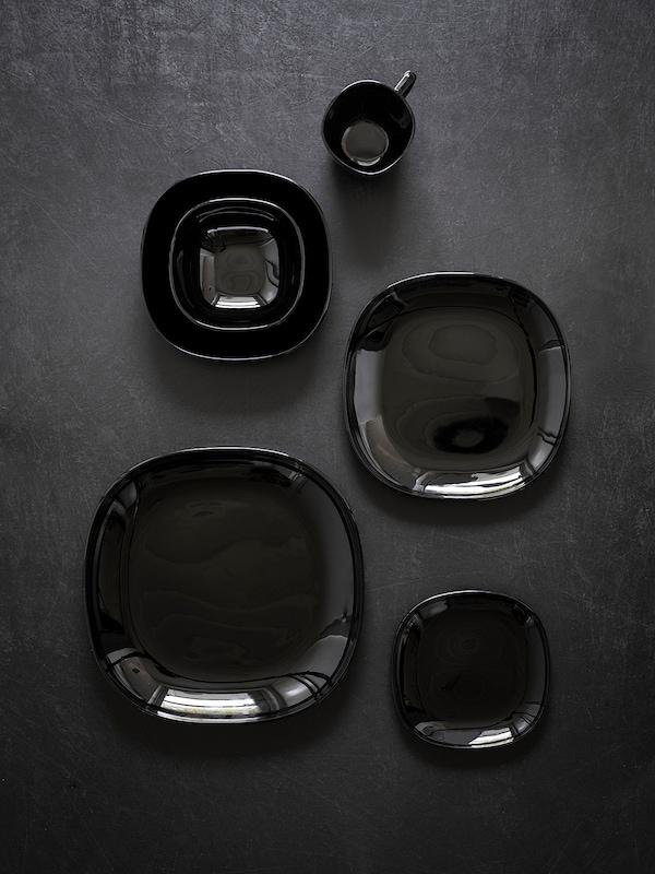 BACKIG Plato, negro, 25x25 cm