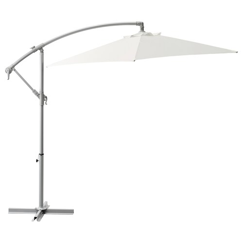 BAGGÖN sombrilla colgante blanco 250 cm 250 cm