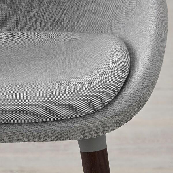 BALTSAR Silla, gris claro, marrón IKEA