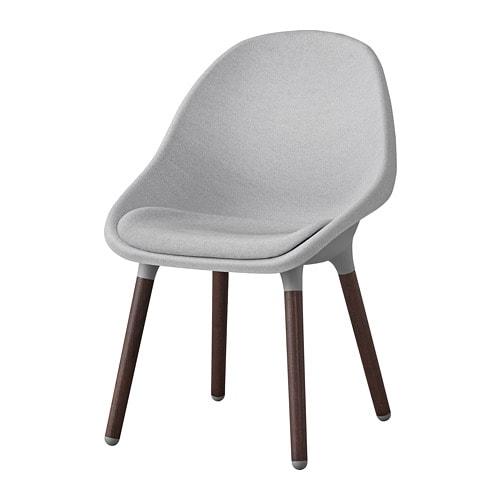Baltsar silla gris claro marr n ikea - Ikea fundas sillas ...