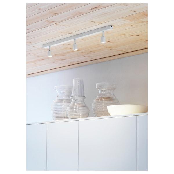BÄVE Riel techo 3focos, blanco