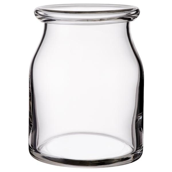 BEGÄRLIG Florero / jarrón, vidrio incoloro, 18 cm