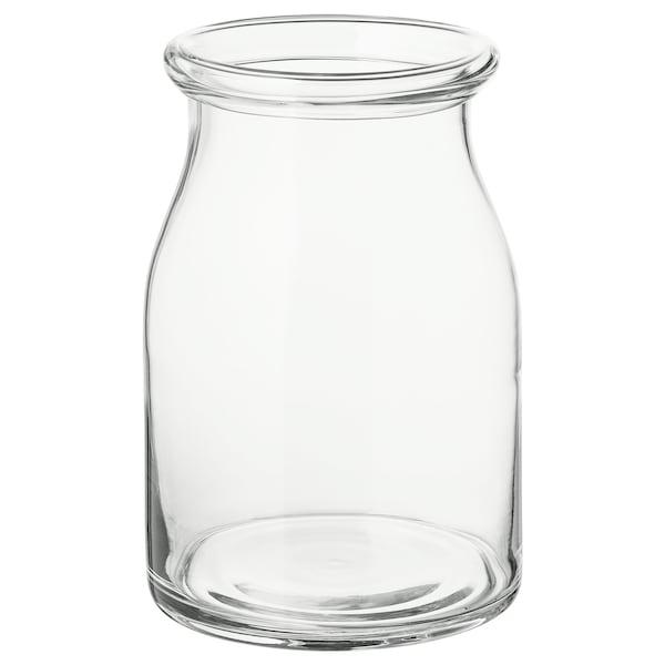 BEGÄRLIG Florero / jarrón, vidrio incoloro, 29 cm