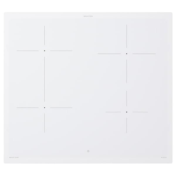 BEJUBLAD Placa de inducción, IKEA 500 blanco, 58 cm