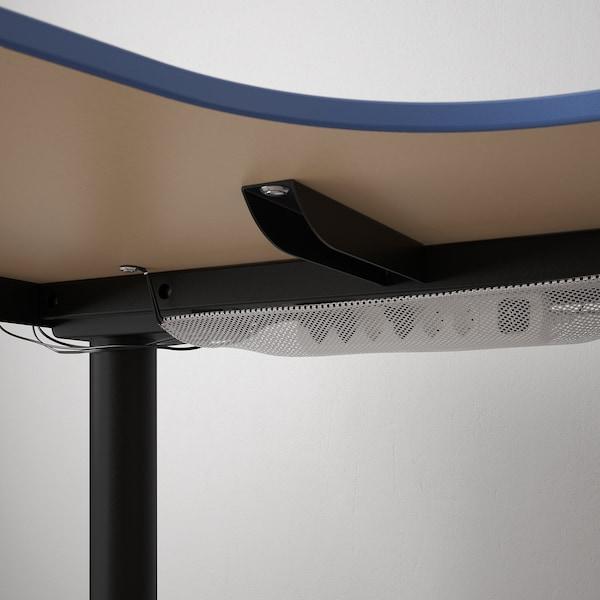 BEKANT escritorio esquina izq sentado/pie linóleo azul/negro 160 cm 110 cm 65 cm 125 cm 70 kg